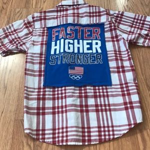 USA Olympics Upcycled Quiksilver Button Down